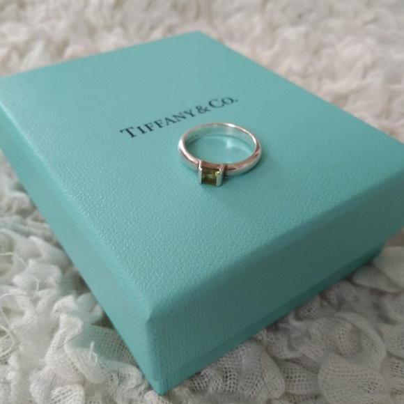 dc8479c78 Tiffany & Co Jewelry | Tiffany Co Stackable Peridot Silver Ring ...